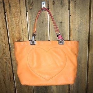 Brighton orange mini satchel